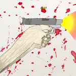 Illustration for a story on the Northern Illinois University shooting