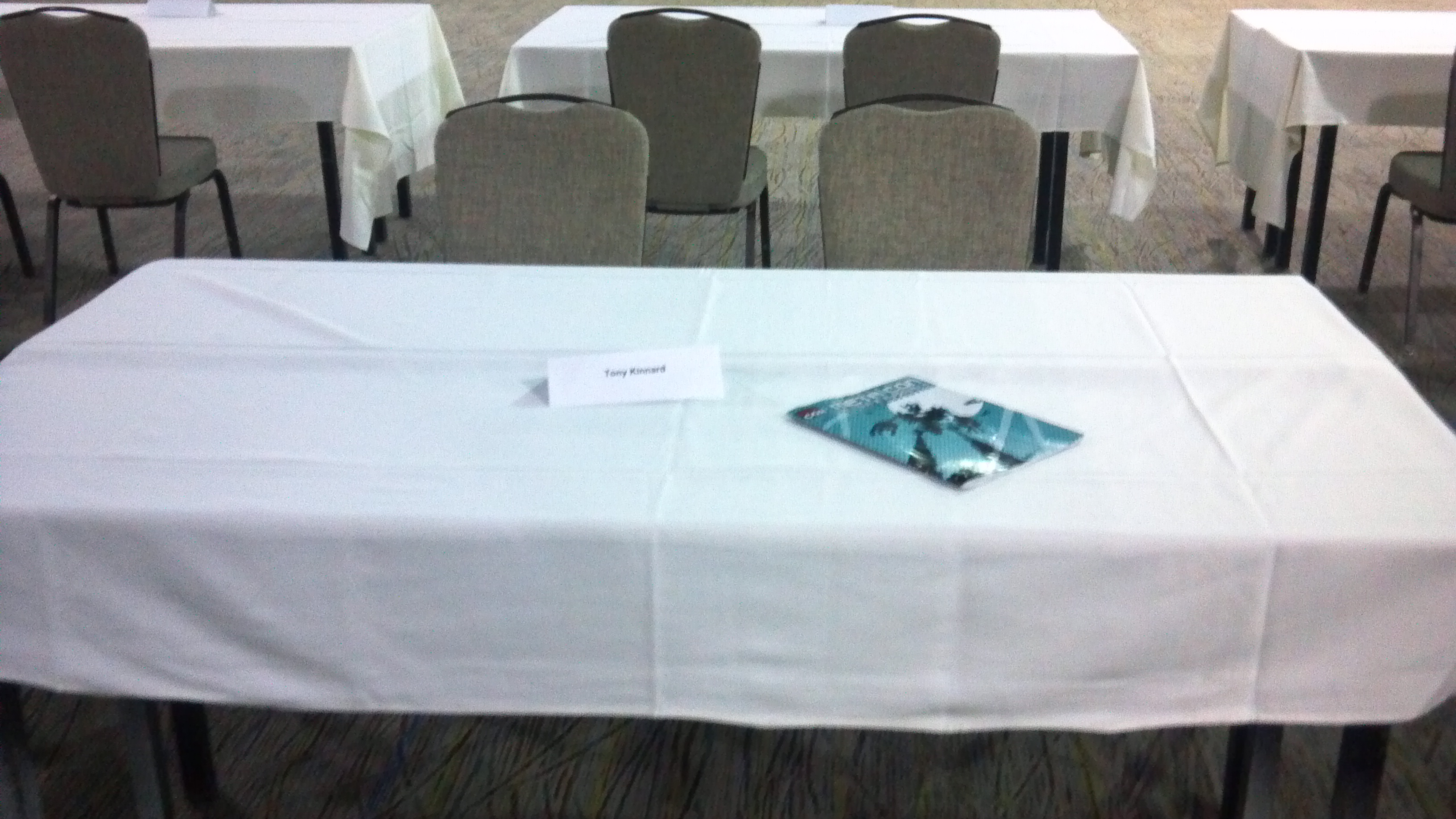 Table before setup