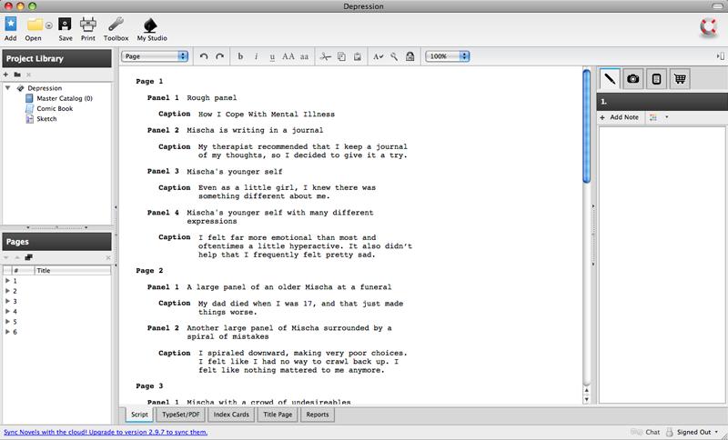Depression Script